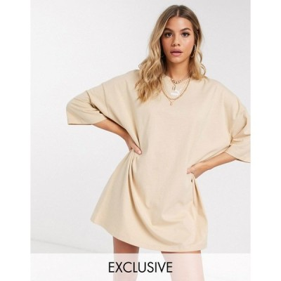 プーマ レディース ワンピース トップス Puma t-shirt dress in pebble exclusive to ASOS Pebble