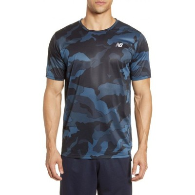 ニューバランス NEW BALANCE メンズ Tシャツ トップス Accelerate Crewneck T-Shirt Black Slate