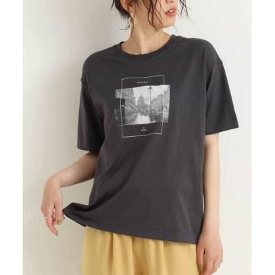 a.v.v/アー・ヴェ・ヴェ 【抗菌/防臭加工】フォトプリントTシャツ ダークグレー XS