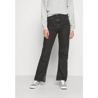 ウイークデイ レディース ファッション ROWE NEW SPLIT - Straight leg jeans - new black