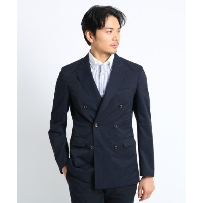 (TAKEO KIKUCHI/タケオキクチ)リネンライクプリント ダブルジャケット(クールドッツ(R))/メンズ ダークネイビー(094)