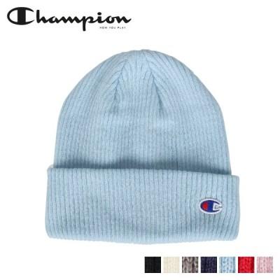 チャンピオン Champion ニット帽 ニットキャップ ビーニー メンズ レディース 無地 KNIT CAP ブラック ホワイト グレー ネイビー 590-008A