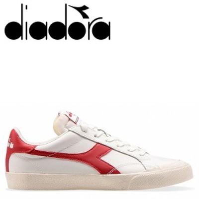 ディアドラ Diadora メロディー レザー ダーティ スニーカー メンズ MELODY LEATHER DIRTY ホワイト 176360-3653