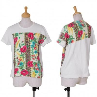 トリコ コムデギャルソンtricot COMME des GARCONS フラワープリントTシャツ 白マルチM位 【レディース】