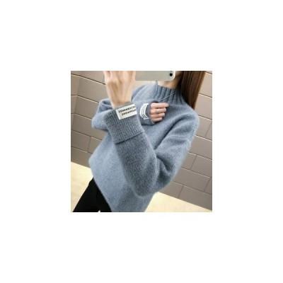 セーター ニット レディース ニットセーター 長袖 タートルネック ミンク ゆったり 厚手 防寒 あったか 暖かい おしゃれ 秋物 冬物 新作 送料無料