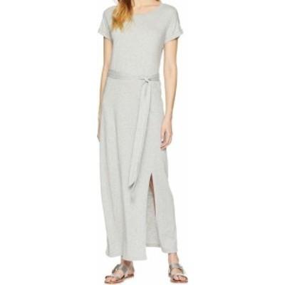 HEATHER  ファッション ドレス Sanctuary NEW Heather Gray Womens Large L Belted T-Shirt Maxi Dress