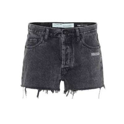 オフホワイト Off-White レディース ショートパンツ デニム ボトムス・パンツ High-rise denim shorts Dark Grey Wash No Color