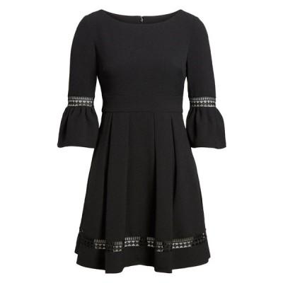 エリザジェイ レディース ワンピース トップス Bell Sleeve Fit & Flare Dress BLACK