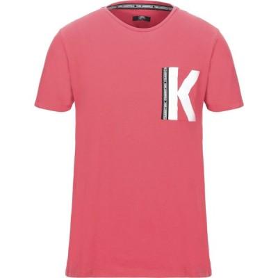 カール ラガーフェルド KARL LAGERFELD メンズ Tシャツ トップス t-shirt Coral
