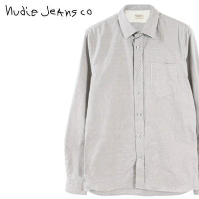 ヌーディージーンズ Nudie Jeans コットンシャツ メンズ マイクロチェック柄 長袖 HENRY/MICRO CHECK