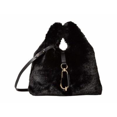 ザックポーゼン ハンドバッグ バッグ レディース Belay Shopper - Faux Fur Black