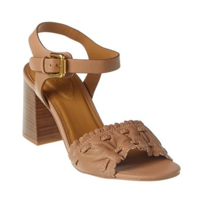 シーバイクロエ サンダル シューズ レディース See by Chlo Gathered Detail Leather Sandal -