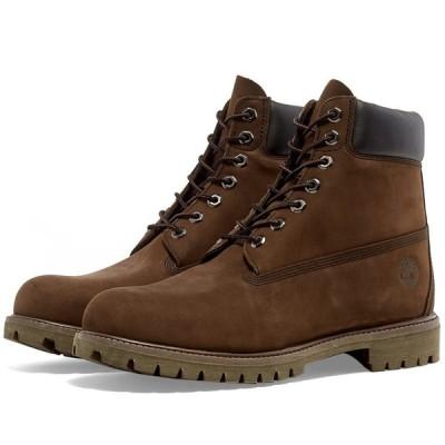 """ティンバーランド Timberland メンズ ブーツ シューズ・靴 6"""" Premium Boot Medium Brown Nubuck"""