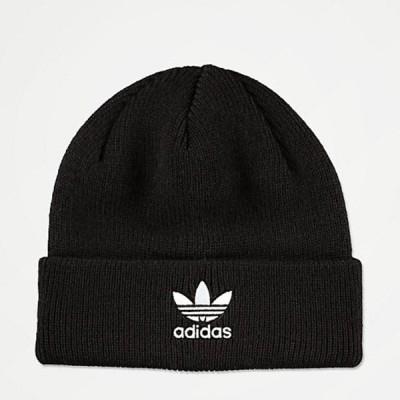 Adidas/アディダス adidas レディース ニット帽 ビーニー ブラック 黒 Originals Trefoil Black & White Beanie