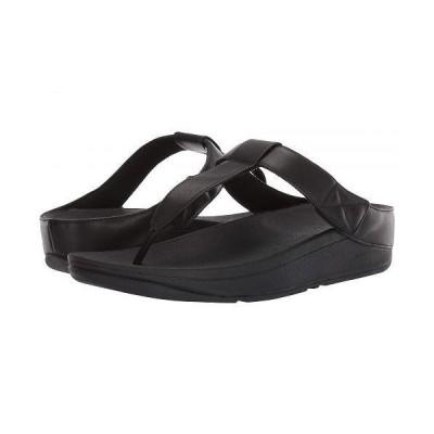 FitFlop フィットフロップ レディース 女性用 シューズ 靴 サンダル Mina Toe-Thong - All Black