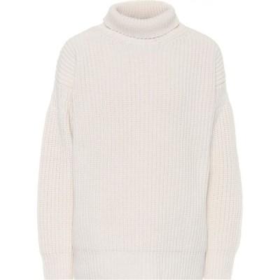 マルニ Marni レディース ニット・セーター トップス virgin wool turtleneck sweater Alabastro