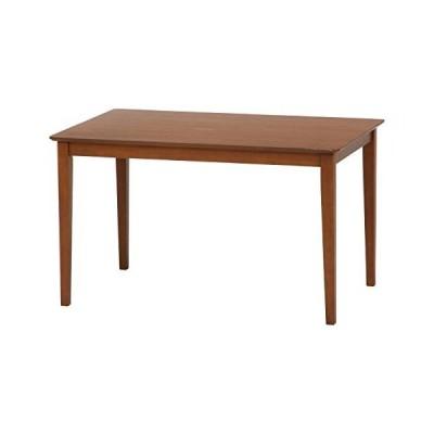 不二貿易 ダイニングテーブル 幅120cm ブラウン 天然木 簡単組み立て スノア96783