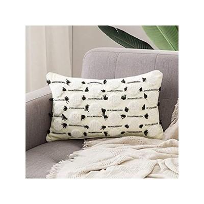MIULEE Decorative Throw Pillow Cover Tribal Boho Woven Tufted Pillowcase Su