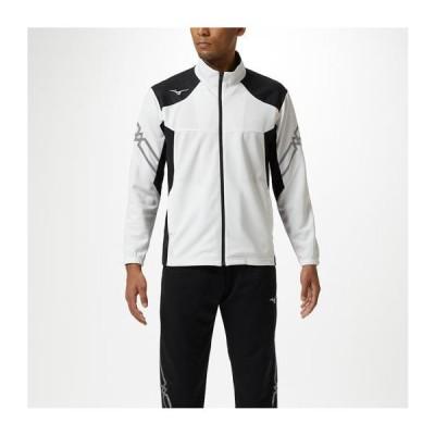 【在庫処分】ミズノ ウォームアップジャケット ホワイト×ブラック(MCライン/ブラック) Mizuno 32MC9110 01
