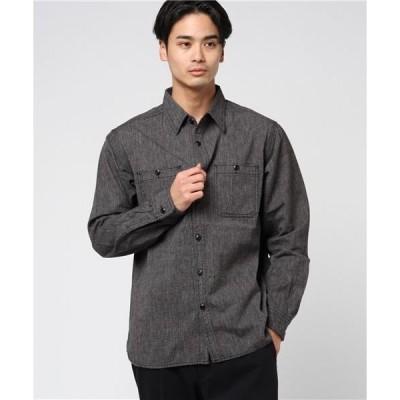 シャツ ブラウス PAY DAY ペイディ/ 定番長袖シャンブレーシャツ PD-001SH