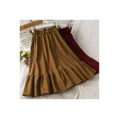 【送料無料】レトロ バド ミディ丈 ハイウエストのスカート 女 秋服 何 | 346770_A63702-1687494