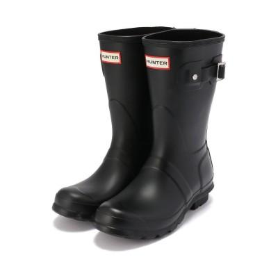 【ビーバー】 HUNTER/ハンター WOMENS ORIGINAL SHORT オリジナル ショート レイン ブーツ 長靴 レディース ブラック 4 BEAVER