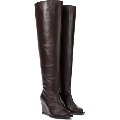 ドロシー シューマッハ Dorothee Schumacher レディース ブーツ シューズ・靴 sophisticated chic leather over-the-knee boots Dark Espresso