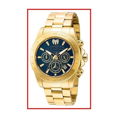 Technomarine Men's Manta Ray Quartz Watch with Stainless Steel Strap, Gold, 22 (Model: TM-219006)