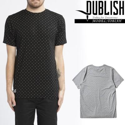 [旧品/アウトレット][BLACKのみ]パブリッシュブランド Tシャツ PUBLISH BRAND TOBIAH ドットT 半袖 メンズ 男性[ZRC]