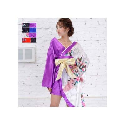 着物 ドレス 和風 花魁 コスプレ よさこい 衣装 浴衣ドレス 大人 Jewel ジュエル 孔雀柄 着物ドレス