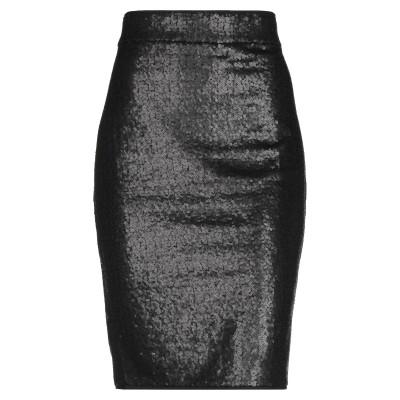 AVENUE MONTAIGNE ひざ丈スカート ブラック 2 ポリエステル 96% / ポリウレタン 4% ひざ丈スカート