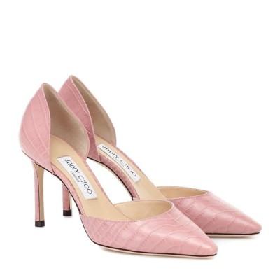 ジミー チュウ Jimmy Choo レディース パンプス シューズ・靴 Esther 85 croc-effect leather pumps Blush