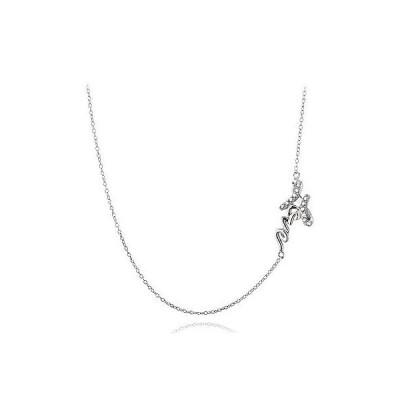 海外セレクション ダイヤモンド 925 シルバー ダイヤモンド アクセント ラブ Chain ネックレス