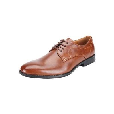 [メールコション] ビジネスシューズ 革靴 紳士靴 会社 ビジネス オフィス 通勤 軽量 ブラック ブラウン メンズ(ブラウン 26.0 cm)