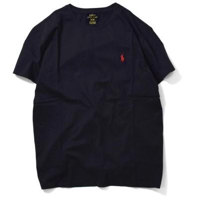 ポロ ラルフローレン POLO RALPH LAUREN 半袖 Tシャツ メンズ ストリート ONE POINT PONY CREW TEE BLACK ブラック