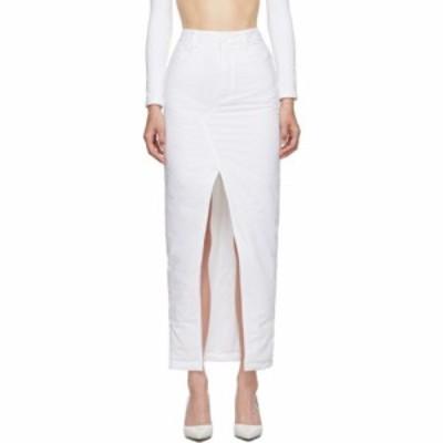 メゾン マルジェラ MM6 Maison Margiela レディース ひざ丈スカート スカート white padded mid-length skirt White