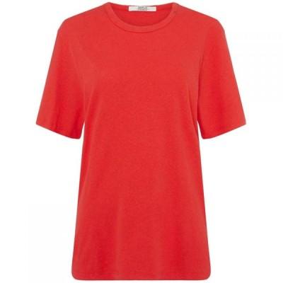 リプレイ Replay レディース Tシャツ トップス Cotton Linen T-Shirt Red