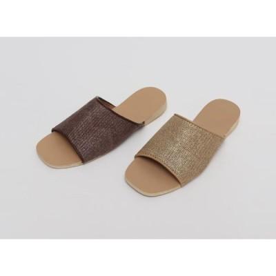 From Beginning レディース サンダル Simular rattan pattern slipper_Y