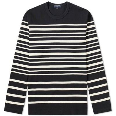 コム デ ギャルソン Comme des Garcons Homme メンズ 長袖Tシャツ トップス Long Sleeve Stripe Tee Navy/White