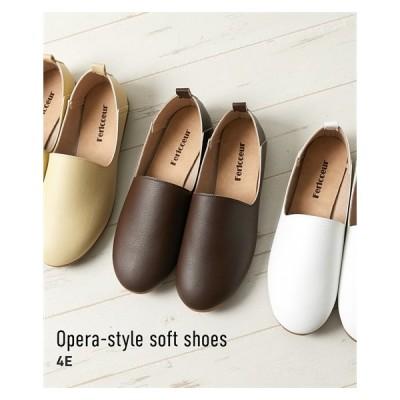靴 大きいサイズ レディース ゆったり 幅広 日本製 オペラ風 やわらか シューズ ワイズ4E 23.5/24/24.5/25cm ニッセン nissen