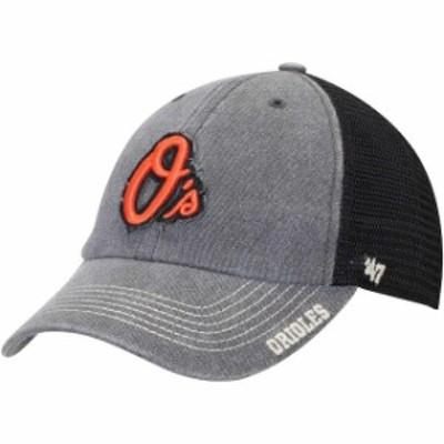 47 フォーティーセブン スポーツ用品  47 Baltimore Orioles Black Burnstead Clean Up Trucker Adjustable Hat