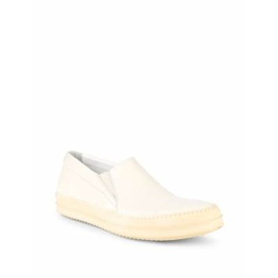 リックオーウェンズ メンズ スニーカー Colorblock Leather Slip-On Sneakers