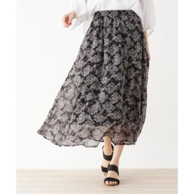 SHOO・LA・RUE / シューラルー 【フリーサイズ】ペイズリーフレアロングスカート