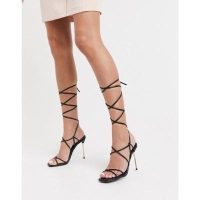 パブリックディザイア Public Desire レディース サンダル・ミュール シューズ・靴 Sprite Tie Up Heeled Sandals ブラック