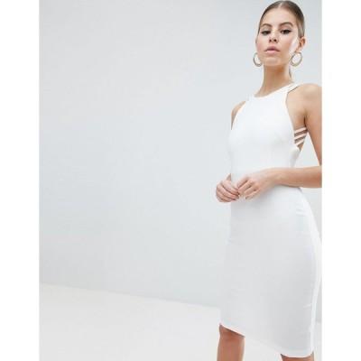 ベスパー ミディドレス レディース Vesper Strappy Back Midi Dress エイソス ASOS ホワイト 白 ストラップ ワンピース ストラップ ワンピ ワンピース 日本未入