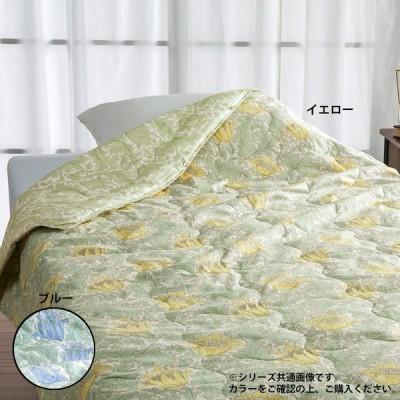 150×210cm シングルロングサイズ V&A 掛けふとん 手引き真綿 真綿肌掛けふとん ロマンス小杉 2802-2382-0400 イエロー色
