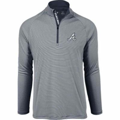 レベルウェア Levelwear メンズ トップス ハーフジップ Atlanta Braves Navy Orion Quarter-Zip Shirt
