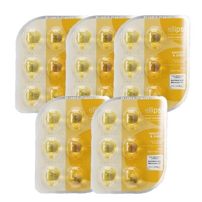 ヘアビタミン スムース&シャイニー イエロー フレッシュトロピカルフルーツ 6粒 シートタイプ