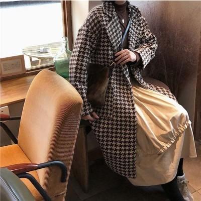 チドリロングシングルコート レディース アフター コート 大人 上品 オフィス ON/OFF  羽織 きれいめ