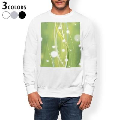 トレーナー メンズ 長袖 ホワイト グレー ブラック XS S M L XL 2XL sweatshirt trainer 裏起毛 スウェット 模様 緑 002191